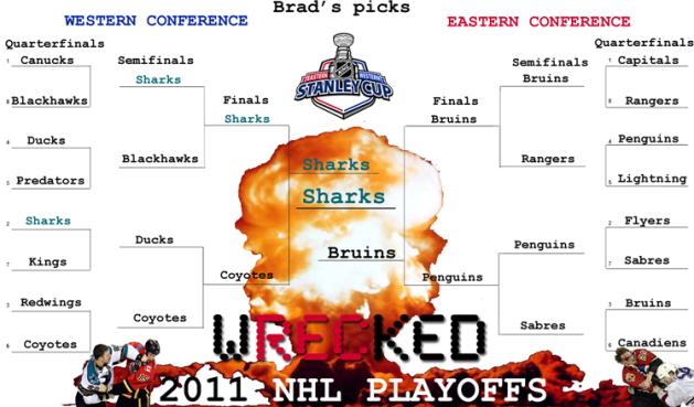 Brad's 2011 NHL Playoff Predictions